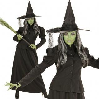 Hexe Kostüm XXL 50/52 Halloween Damen Hexenkostüm Hexen Zauberin Magierin #7448
