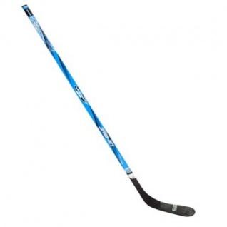 Profi Eishockey Schläger Rechts 137cm Schwarz / Blau Holz Glasfiber #0187BZZ