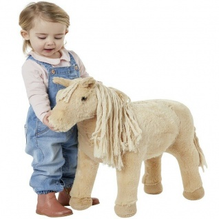 Happy People 58047 SHETLAND PONY mit Sound Pferd Kinder Spielzeug Reitpferd