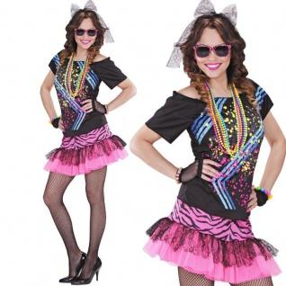 Damen Kostüm 80er Jahre ROCK GIRL 80ties Gr. S (34/36) Dance Tanz Musik #98891
