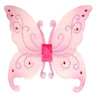 SCHMETTERLINGSFLÜGEL rosa Flügel für Kostüm Schmetterling Fee Elfe