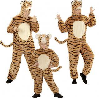 TIger Kostüm Partnerkostüm für Damen Herren und Kinder Unisex Plüsch Tierkostüm