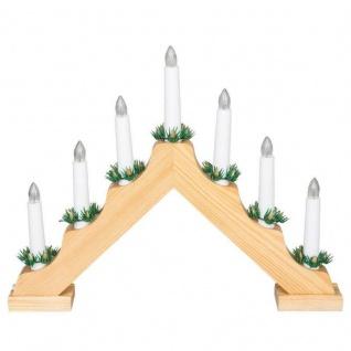 Adventsbogen Holz - Natur - Lichterbogen Schwedenleuchter Advent Kerzenleuchter