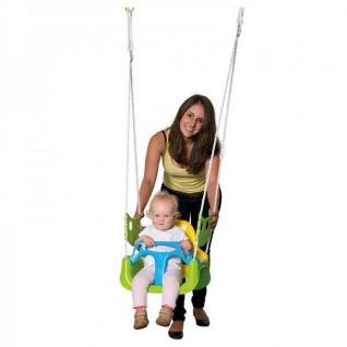 3in1 Kinder Schaukel mit Kippschutz + 3 Punkt Gurt, Babyschaukel Kinderschaukel