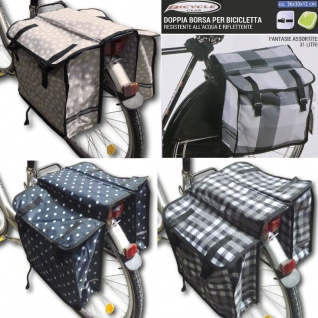 Doppel SATTELTASCHE Gepäcktasche Fahrradtasche Gepäckträgertasche 2-fach Tasche