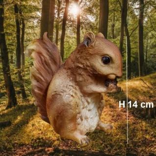 Figur Eichhörnchen mit Nuß 14cm Gartenteich Deko Garten Figur #9900