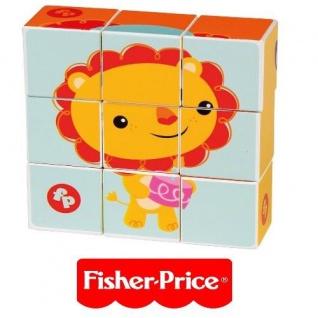 Happy people 41221 fisher price Tierische Holz Puzzle Klötze - 9 Klötze 6 Motive