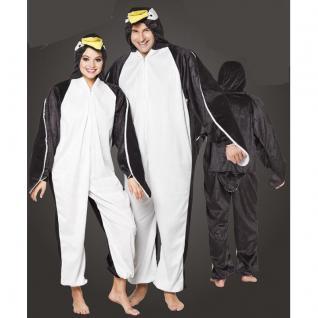 Pinguin Plüsch Kostüm - Overall für Damen Herren Jumpsuit Junggesellenabschied