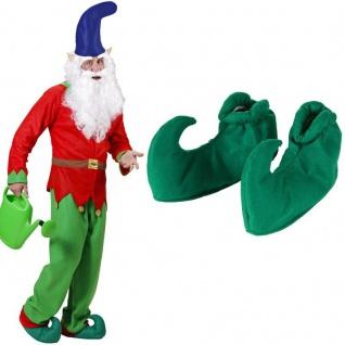 Grüne Schuhüberzieher für Wichtel Elf Elfen Kasper Hofnar Zwerg Joker Kostüm