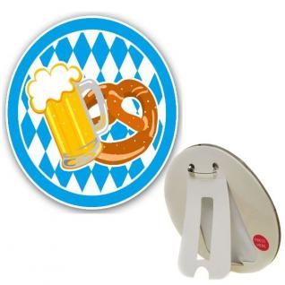 LED Button Oktoberfest Brezel Bierkrug Anstecker Tischdeko Party Zubehör 976