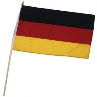 Flagge mit Holzstab Stab 30x40cm Deutschland Fan Artikel Deko WM+EM #651-34