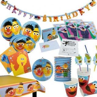 SESAMSTRAßE Kindergeburtstag PARTY DEKO Geburtags Set Tischdeko Ernie Bert