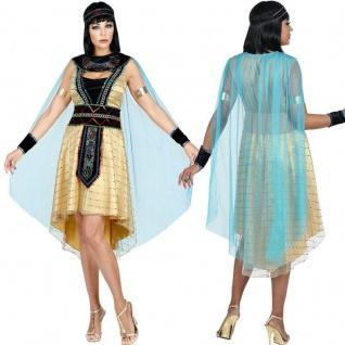 Antike Königin CLEOPATRA Ägypterin Damen Kostüm - Herrscherin Kleid mit Umhang