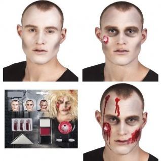 ZOMBIE Make Up Kit Schminkset Eye Styling Schminke Karneval Halloween #5085