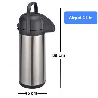 3 L AIRPOT Edelstahl Thermokanne Pumpkanne Isolierkanne rostfrei doppelwandig