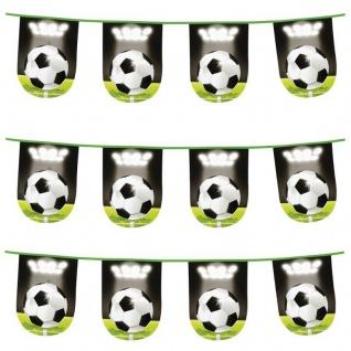 600 cm Wimpelkette Girlande Stadion Fussball Motiv Geburtstag Raumdeko #2501