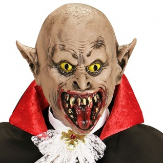 VAMPIR 3/4 MASKE Horror Party Zombie Dracula Halloween Karneval 0395