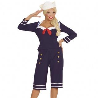 Damen Kostüm 50er PIN-UP SAILOR GIRL GR: 42/44 (L) Matrosin Matrosengirl #0343