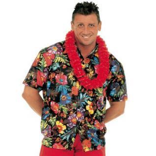 Hawaiihemd Hawaii Hawai Hemd schwarz Blüten Hibiskus M/L 50/52 XL 54