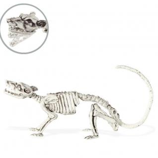 Ratten Skelett Halloween Deko 35cm - Party Dekoration Maus Nagetier Gerippe
