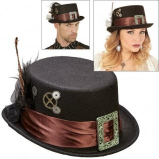 STEAMPUNK ZYLINDER schwarz Viktorianischer Gothic Hut Retro Kostüm Party # 0812