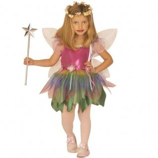 REGENBOGEN FEE Kostüm Mädchen Märchen Elfe Schmetterling mit Flügeln