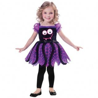 Spinnen Mädchen Kinder Kostüm Gr. 98 104 110 - Kleid - Halloween KleinkKinder
