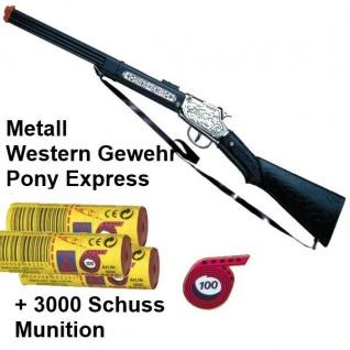 PONY EXPRESS Western Gewehr mit 3000 Schuss Munition Kinder Spielzeug Cowboy