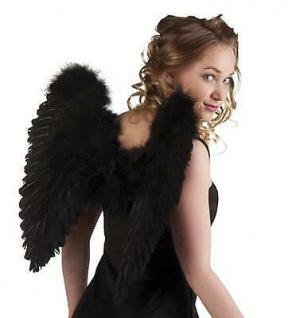 Engelsflügel 50 x 50 cm Schwarz zum Kostüm Schwarzer Engel Gothic Vampir 2785