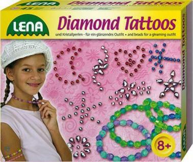 Lena Diamond Tattoos Set mit Kristalperlen - aufdrücken anreiben fertig Kreativ