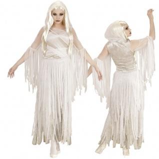SPUKENDE SCHÖNHEIT Damen Halloween Kostüm Geist Gespenst 36 38 40 42 44 46 48