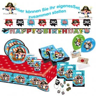 PARTY SET PIRATEN für Kindergeburtstag & Motto Party: Teller, Becher usw.