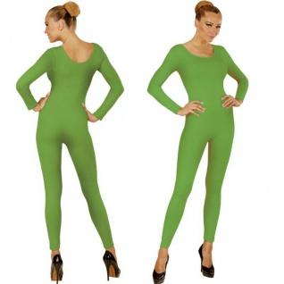 Einteiler Damen Body Overall Jumpsuit lang Sport grün, Langarm Gr. M/L, XL