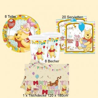 Winnie the Pooh Disney Sweet Tweets - Teller Becher Servietten Tischdecke 37 tlg