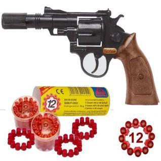 Agent BONNY Spielzeug Pistole mit 240 Schuss Munition Kinder Revolver Colt