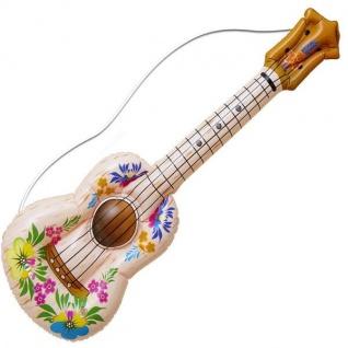 Aufblasbare Gitarre, Ukulele 105cm Musikinstrument Hawaii Party-Accessoire