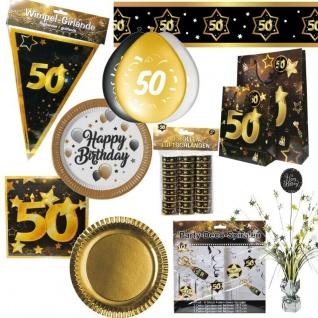 50. Geburtstag Jubiläum schwarz gold Party Deko Zahl 50 - RIESENAUSWAHL -