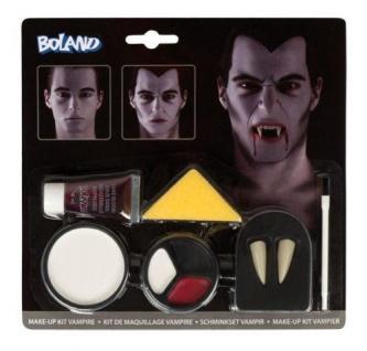 Schminkset Vampir Schminke Halloween Fasching Make-up Vampirzähne 45083