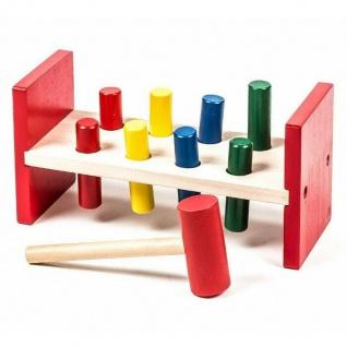 Holzspielzeug Klopfbank Kinderwerkzeug Spielzeug Hammerbank Motorikspielzeug NEU