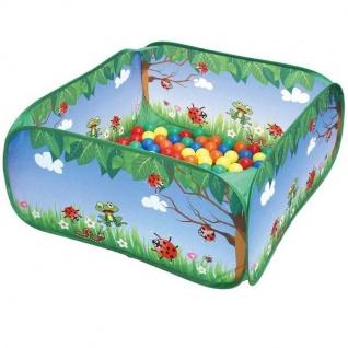 Kinder Bällebad mit 50 Bällen - Marienkäfer - Outdoor Active Spielzeug NEU