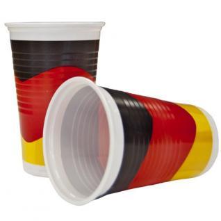 10x Partybecher 0, 2l Deutschland Fan Artikel Deko Party Becher WM+EM #212-34