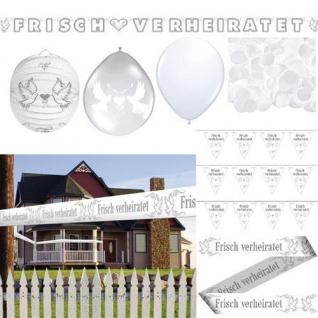 FRISCH VERHEIRATET Hochzeits Dekoration Party feierlich festlich Ballon AUSWAHL