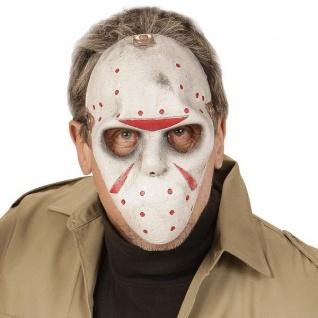 HORROR HOCKEY MASKE Halloween Halbmaske Hockeymaske Terror 0358