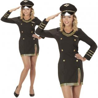 Sexy Damen Kostüm Kreuzfahrt KAPITÄNIN 34/36 (S) Matrosin Marine Uniform #0685