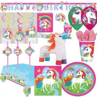 REGENBOGEN EINHORN - Kinder Geburtstag Motto Party - RIESEN AUSWAHL - Unicorn