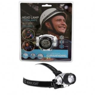 GRUNDIG Stirnlampe 7 LED Kopflampe Kopfleuchte Headlight Angeln Fahrrad Camping