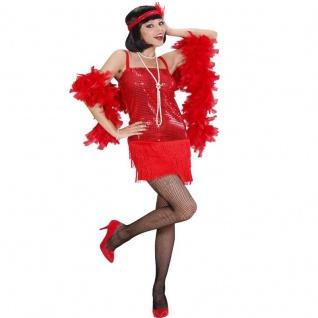 20er Charleston Pailletten Fransen Kleid glamourös Damen Kostüm Flapper Babylon