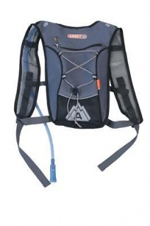 Rucksack mit Trinksystem Grau Tourenrucksack Trekking mit Wasser versorgung