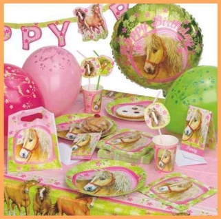 CHARMING HORSES - Pferde Party Geburtstag Set Kindergeburtstag Deko