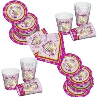 Barbie Pferdeglück Party Set Becher Servietten Pappteller Party Deko Geburtstag